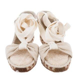 UGG wedge fur lined sandals